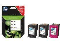 301Triopakk HP (E5Y87EE) CH561EE+CH562EE 2 fekete+1 színes patron