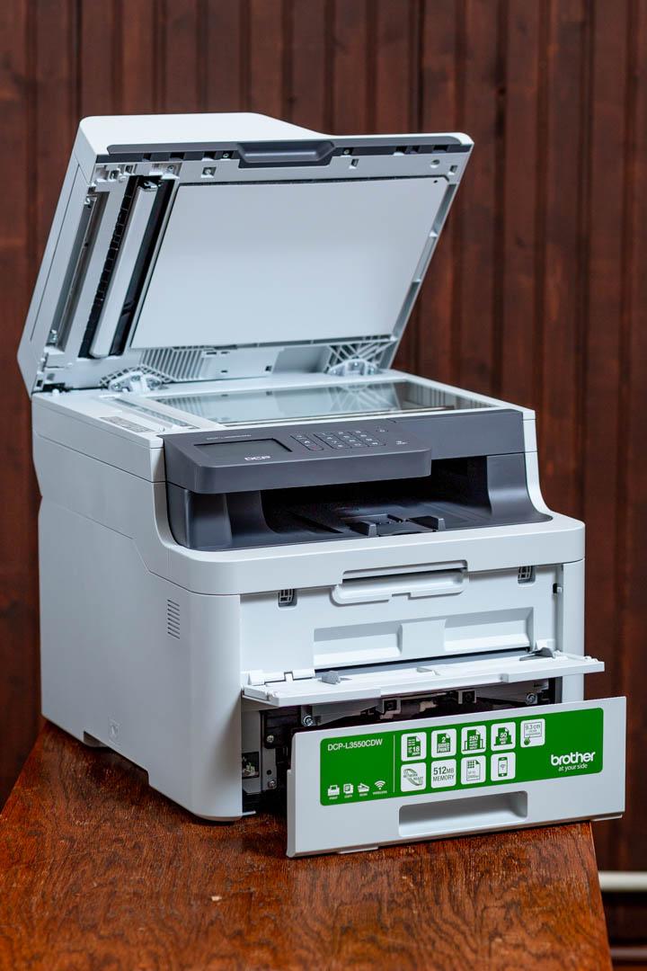 Brother L3550CDW színes LED nyomtató és szkenner lapolvasója
