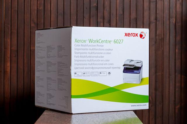 A Xerox 6027 színes multifunkciós lézernyomtató doboza