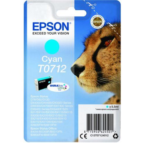T0712 CYAN 5,5ML EREDETI EPSON TINTAPATRON