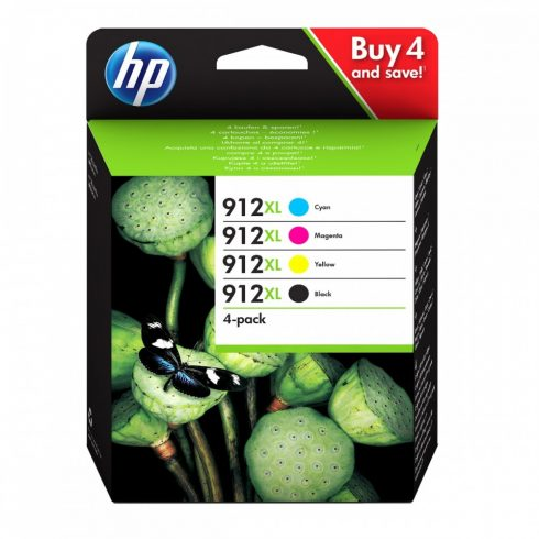 912XL 4 PACK BCMY (3YP34AE) HP EREDETI MULTIPACK TINTAPATRONOK