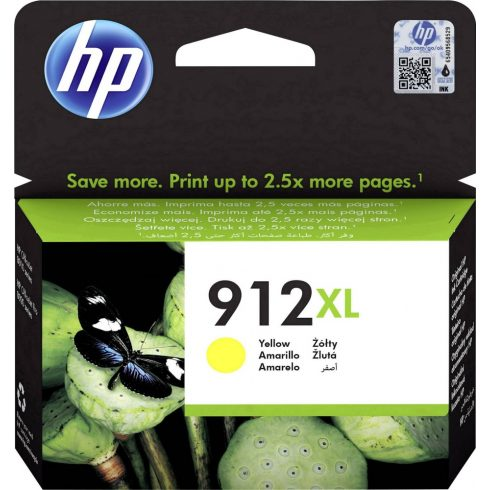912XL YELLOW (3YL83AE) HP EREDETI TINTAPATRON