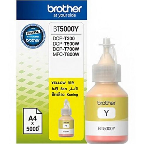 BT-5000 YELLOW 5K (DCP-T300,DCP-T500W) EREDETI BROTHER TINTA