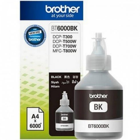 BT-6000 BLACK 6K (DCP-T300,DCP-T500W) EREDETI BROTHER TINTA