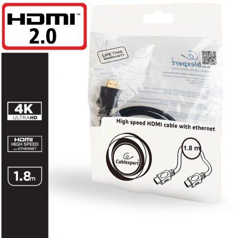 HDMI 2.0 KÁBEL 4K UHD ARANYOZOTT 1.8M