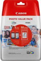 PG-545XL/CL-546XL Eredeti Canon Multipack + 50db 10x15cm fotópapír