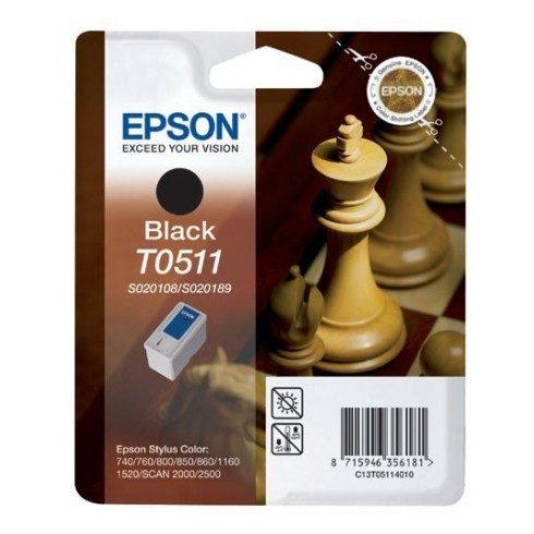 T0511 BK LEÉRTÉKELT EREDETI EPSON PATRON