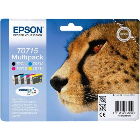T0715 BCMY MULTIPACK EPSON EREDETI TINTAPATRON