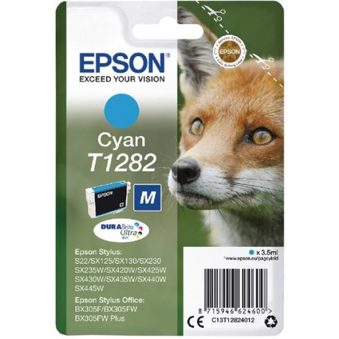 T1282 CYAN 3,5ML EREDETI EPSON TINTAPATRON