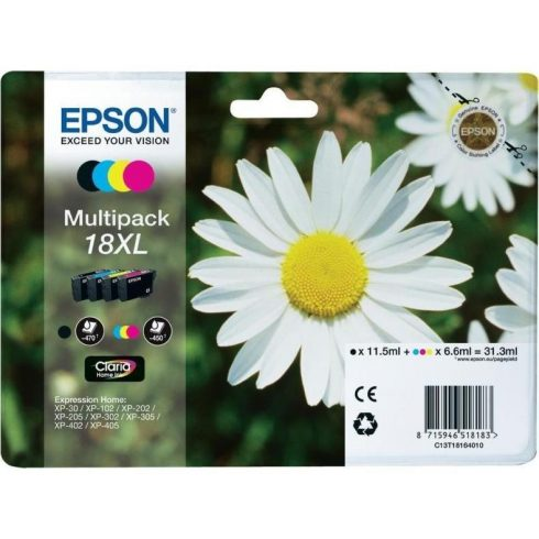 T1816 EPSON EREDETI BCMY MULTIPACK TINTAPATRON