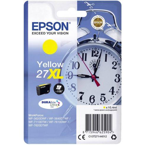 T2714 27XL (C13T27144012) YELLOW EPSON EREDETI TINTAPATRON