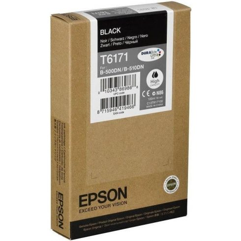 T6171 BLACK LEÉRTÉKELT EREDETI EPSON TINTAPATRON 100 ML