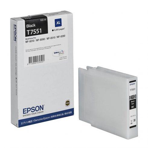 T7551 BK  EREDETI EPSON TINTAPATRON