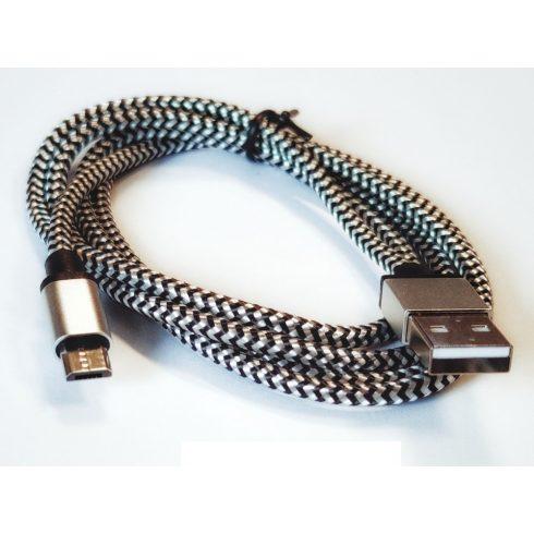 USB 2.0 MICRO KÁBEL 1M HARISNYÁZOTT