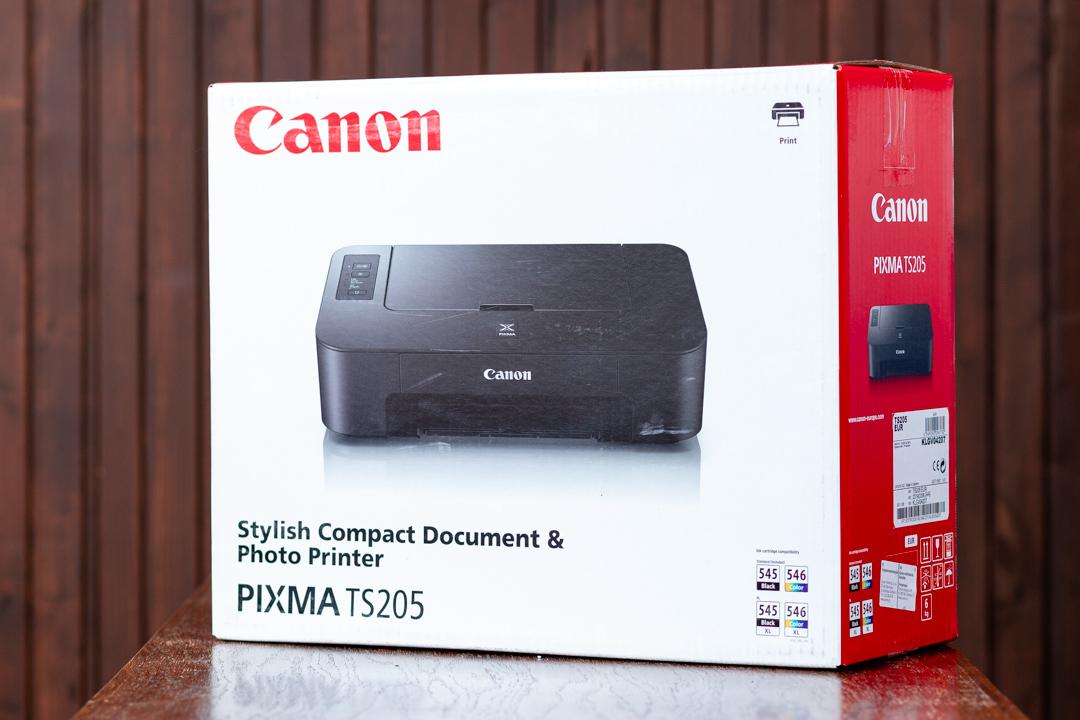 A Canon TS205 olcsó színes nyomtató doboza