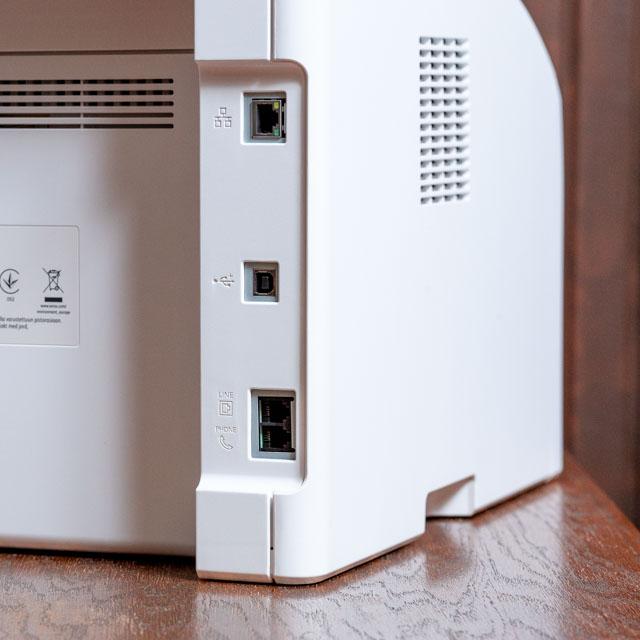 Xerox 6027 színes multifunkciós lézernyomtató – USB, Ethernet és fax csatlakozók