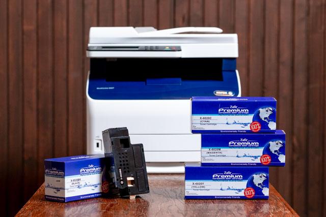 Xerox 6027 színes multifunkciós lézernyomtató és Zafir Premium 6027 100% ÚJ utángyártott tonerek
